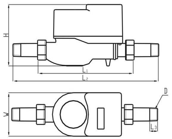 最好在智能水表出水口处加装止回阀.图片